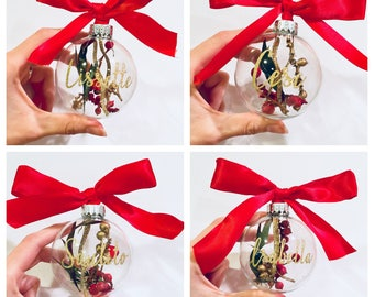 Personalized Glass Ornaments | Personalized Family Ornaments | Personalized Christmas Ornaments