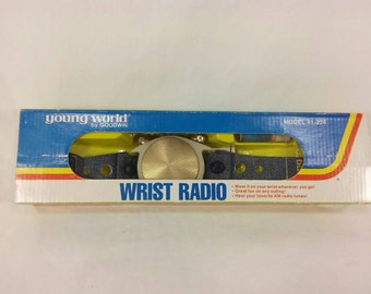 Retro Young world goodwin wrist radio used with box