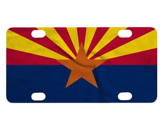 Bicycle License Plate, Arizona Flag Design, AZ State Flag, United States, USA, Bike, Mini License Plate