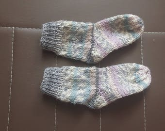 Baby socks Hand knitted approx. 10 cm