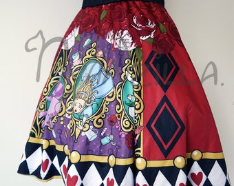 MADE TO ORDER: Queen of Wonderland Flare Skirt
