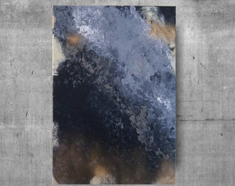 Abstract Acrylic painting, Grays, Black, Brown