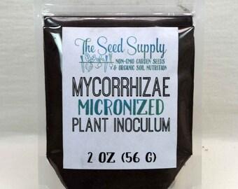 2 Ounce Endo/Ecto Mycorrhizae Plant Inoculum - Beneficial Endo Mycorrhizal Fungi - Organic Fertilizer - Root Growth