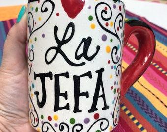 LA JEFA Jumbo Mug