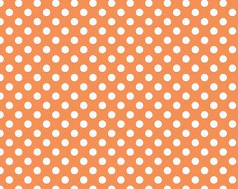 Riley Blake Designs, Small Dots in Orange (C350 60)