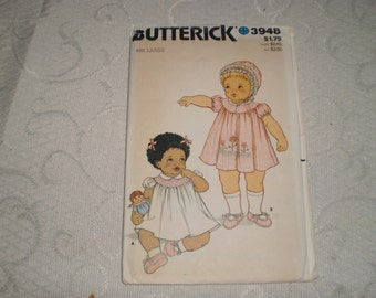 Butterick Baby/Toddler Clothing Pattern with Slippers Size Newborn to Extra Large
