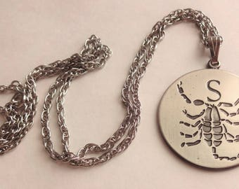 zodiac the clay necklace medallion pot jewelry medal maurer scorpio marian pendant