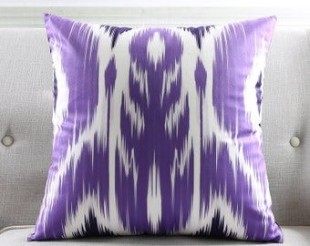 Decorative pillow cover/ Purple abstract cushion cover/  Euro pillow /pillow sham custom made