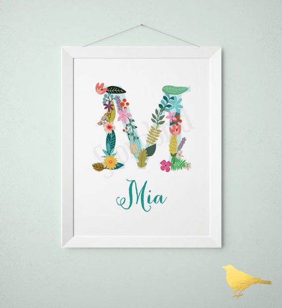 Personalized Baby Gift Baby Name Wall Art Customized