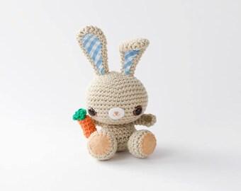 Brown Eyed Amigurumi Spring Bunny