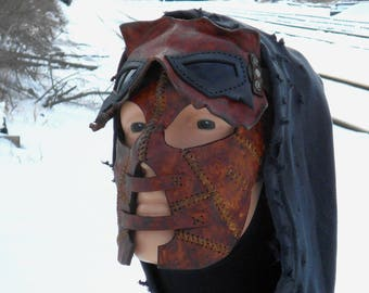 Hunter Sinister Twisted Malevolent Leather Goggles Facemask Wasteland Weekend Dystopia Rising Borderlands Post Apocalyptic Survivor