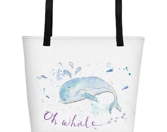 Oh whale Beach Bag