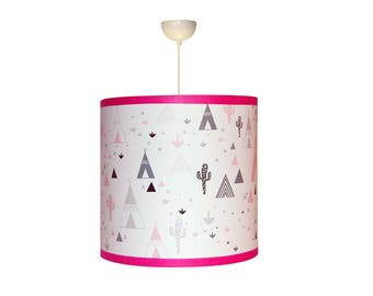 """Lampshade girl """"in my pink teepee"""""""