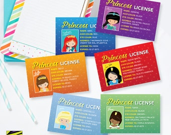 Princess License, Make Believe, Play Pretend, Little Girl, Gift Idea, Princess Party, Magic Kingdom, Under the Sea, Enchanted Forest