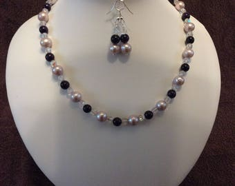 Freshwater Cultured Pearl and Amethyst Set
