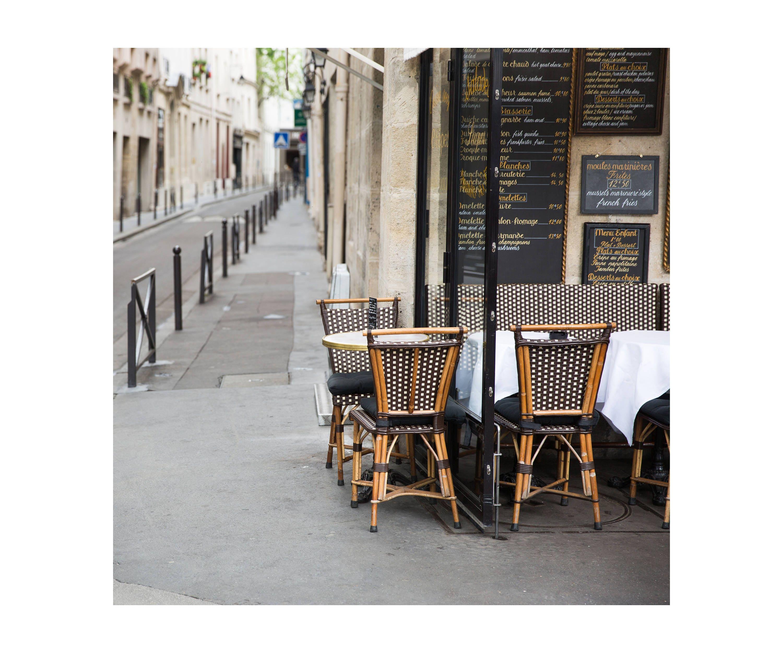 Paris Cafe Fotodruck französische Küche Dekor braun