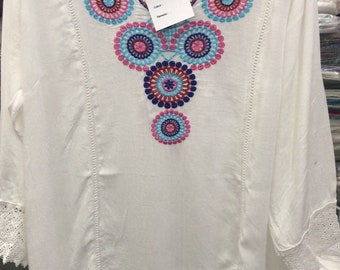 Indian tunic embroidered viscose