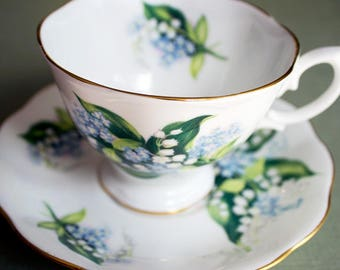 Royal Albert Lilly of the Valley Teacup and Saucer