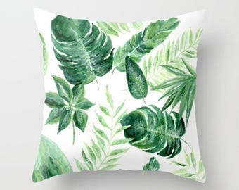Palm Leaf Throw Pillow, palm leaf pillow, palm leaves pillow, palm throw pillow, leaf throw pillow, modern pillow, tropical pillow
