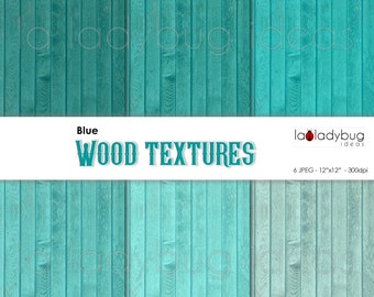 Teal wood texture digital paper (WT009). Tints of teal wood wallpaper. Instant download background. High resolution.