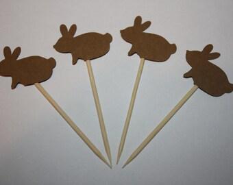 24 mini food picks -  Bunny Rabbit