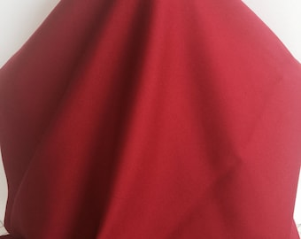17-243 Solid Dark Red Stretch Cotton - Sold by the Yard
