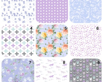 Crib sheet, Stokke Sheets, purple nursery bedding, Moses Basket, Halo Bassinet, UppaBaby, Baby Bjorn Cradle, Dock A Tot, fawn crib sheet,