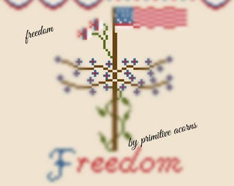 freedom cross stitch pattern