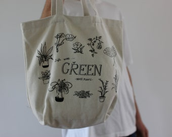 GREEN PLANTS TOTE