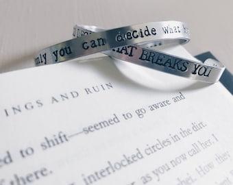 ACoWaR Quote Cuff Bracelet