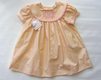 Girls Dress, Toddler Dress, Monogrammed dress Girls, Spring Dress, Birthday Dress, Monogram Dress,  Baby Dress, 6M,18M,2T,3T,4T,5T