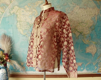 100% Silk Vintage Traveling Pirate Royal Shirt