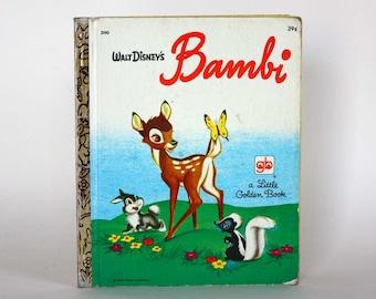 Walt Disney's Bambi - A Little Golden Book - Vintage Book c. 1973 - Western Publishing Golden Press - Young Reader - Illustrated Story Book