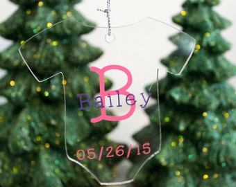 Baby Christmas Ornament, Baby's First Christmas Ornament, Baby's 1st Ornament, Baby Christmas Ornament