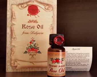 100% True & Pure Bulgarian Rose oil otto, 6ml / 0.2oz Certified