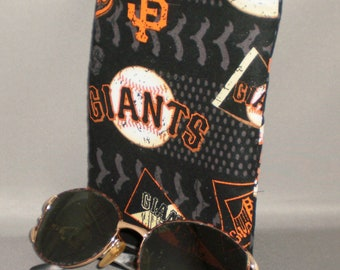 Giants Eyeglass Sunglasses Case - Zipper Top - Cell Phone, Camera, iPod Bag - Padded Zipper Pouch - San Francisco Giants