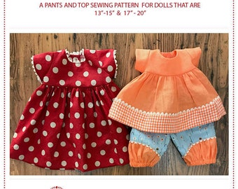 Flax Doll Clothing Pattern by Meadowfinch - in 2 sizes