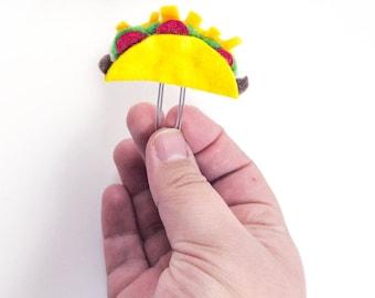 Felt Taco Planner Clip Bookmark - Taco Tuesday