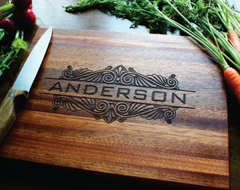 Engraved Cutting Board, Personalized Cutting Board, Custom Cutting Board, Personalized Wedding Gift, Housewarming Gift, Anniversary Gift