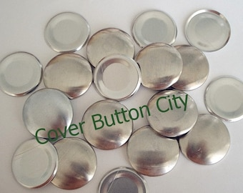 50  Size 45 (1 1/8 inch) Cover Buttons - Flat Backs