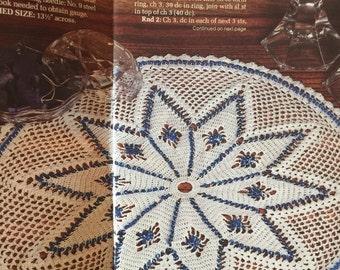 Pdf 1989 vintage crochet beaded doily pattern, crochet doily pattern.