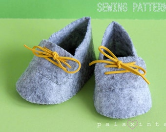 JAMES Felt Baby Shoe Pattern