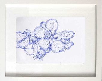 Orchids in Blue I