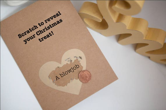 Scratch Card, Funny Christmas Card, Rude Christmas Card, Boyfriend/  Girlfriend/ Husband / Wife, naughty card, funny card, card for boyfriend