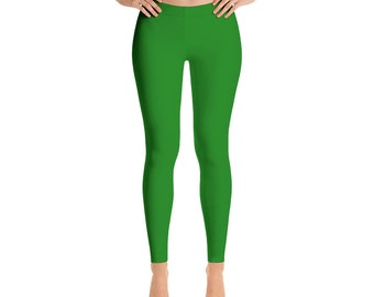 Green Leggings For Women Yoga Pants Yoga Leggings Workout Leggings Pattern Leggings Printed Leggings Fashion Leggings Womens Tights Yoga