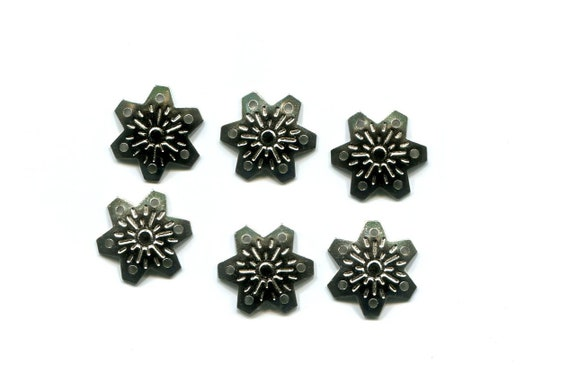 15mm silver snowflake charms pendant metal filigrees christmas jewelry supplies jewelry findings