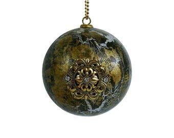 Ornament, Steampunk Ornament , Christmas Ornament, Holiday Decor, Tree Ornament, Designer, Rustic Patina, Metallic, Hip, Unique, Modern,