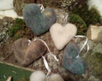 Choice of choices, 5 felt hearts in set, felted hearts, Love, Love, Valentine's Day