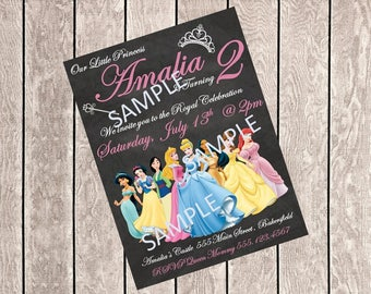 Princess Birthday Invite *Digital*