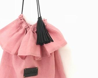 Missrabbit No. 2 linen summer bag